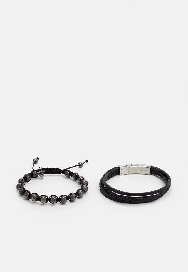 SET - Bracelet - black/gunmetal