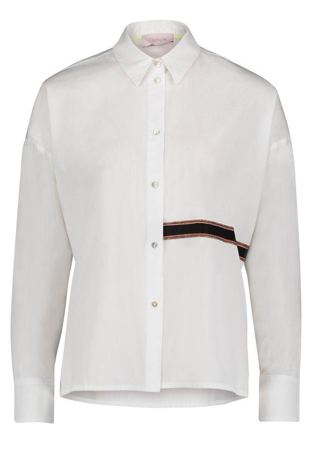 MIT KRAGEN - Overhemdblouse - weiß