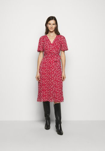 PRINTED GEORGETTE DRESS - Day dress - lipstick red