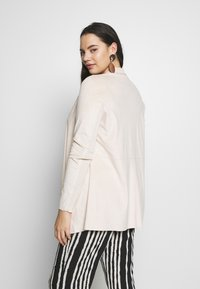Simply Be - LONGLINE WATERFALL JACKET  - Manteau court - pale stone - 2