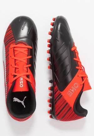 ONE 5.4 MG JR - Moulded stud football boots - black/nrgy red/aged silver