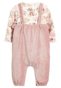 Next - DUNGAREE AND FLORAL BODYSUIT SET - Body - pink - 1