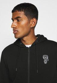 KARL LAGERFELD - HOODY - Zip-up hoodie - black - 7