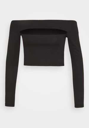 SLASH PONTE BARDOT - Long sleeved top - black