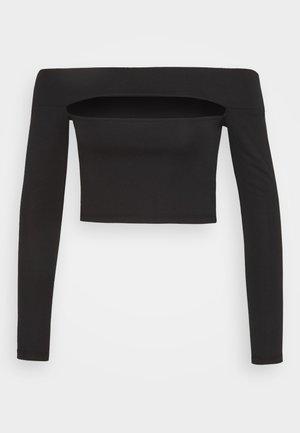 SLASH PONTE BARDOT - Top sdlouhým rukávem - black