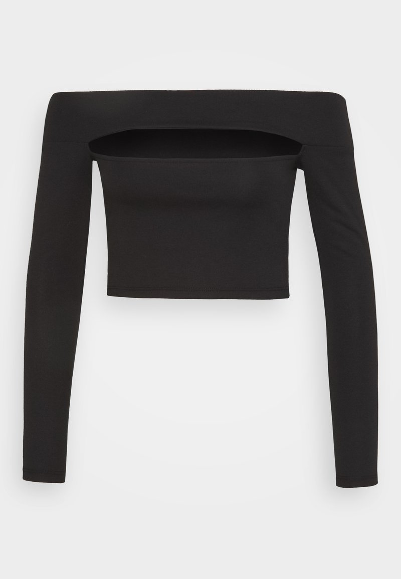 Topshop - SLASH PONTE BARDOT - Long sleeved top - black