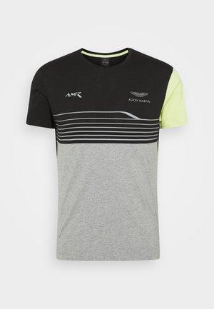 STRIPE TEE - T-shirt z nadrukiem - black/grey