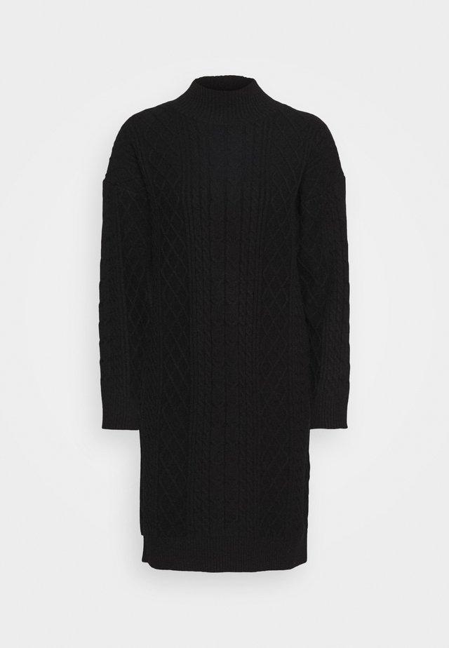 DRESS CABLE  - Gebreide jurk - black