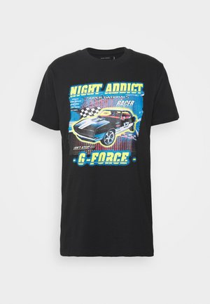 FORCE - Print T-shirt - black