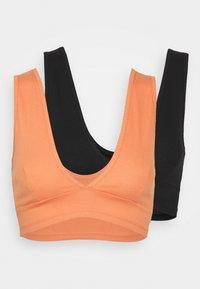 Monki - Top - black dark/orange medium dusty - 4