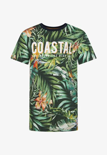 WE FASHION JONGENS T-SHIRT MET BLADERENDESSIN - T-shirt imprimé - all-over print