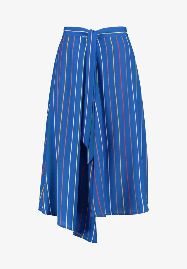 NECHEL - A-line skirt - pen blue