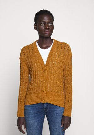 POINT SUR TEXTURED VNECK CARDIGAN - Kardigan - golden brandy
