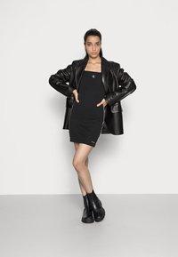 Calvin Klein Jeans - SQUARE NECK DRESS - Jersey dress -  black - 1