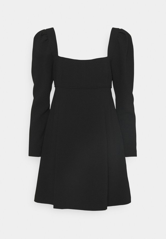 PUFF SLEEVE DRESS - Cocktailjurk - black