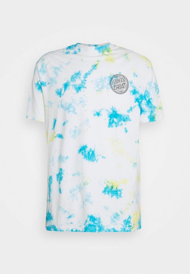 TIE DYE DOT LOGO EXCLUSIVE UNISEX - T-shirt con stampa - blueish