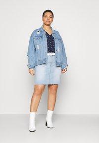 Cotton On Curve - SKIRT - Denim skirt - sky blue - 1