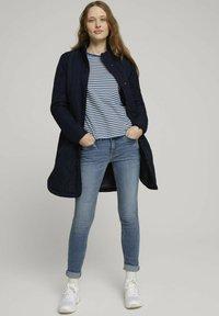 TOM TAILOR DENIM - Long sleeved top - indigo blue creme stripe - 1