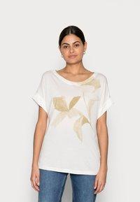 Esprit Collection - FLOWER - Print T-shirt - off white - 0
