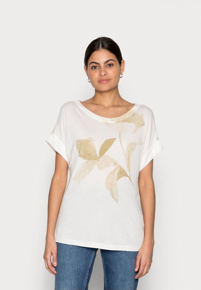 Esprit Collection - FLOWER - Print T-shirt - off white