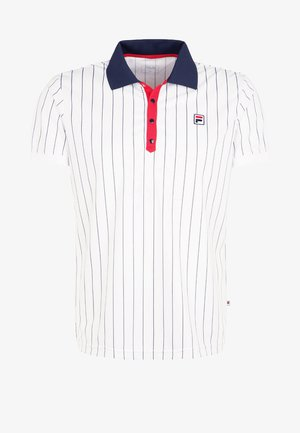STRIPES - T-shirt de sport - white/peacot blue/red