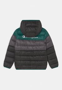 Champion - COLOR BLOCK JACKET UNISEX - Winter jacket - black/green/dark grey - 1