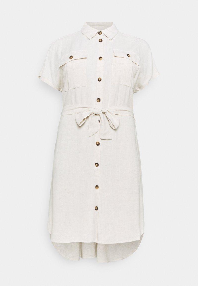 Kaffe Curve - KCLILOA SHIRT DRESS - Shirt dress - light sand