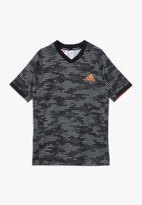 adidas Performance - Print T-shirt - black/truora - 0