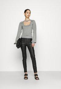 Missguided - COATED CORSET DETAIL - Kalhoty - black - 1