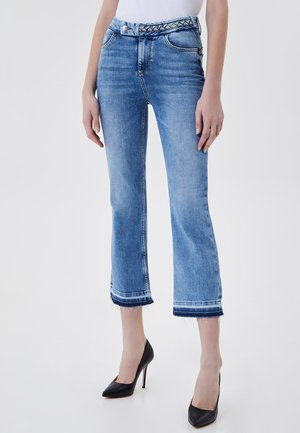 CROPPED BELL-BOTTOM - Bootcut jeans - blue denim