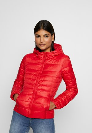 ONLTAHOE HOOD JACKET  - Lehká bunda - red