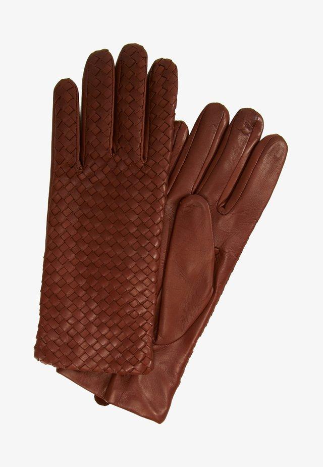 MILA - Gloves - tobacco