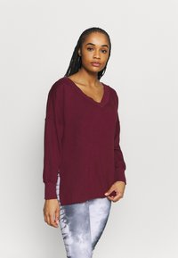 Nike Performance - YOGA COVER UP - Sweatshirt - night maroon/dark beetroot - 0