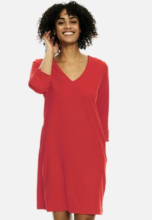 Jersey dress - fiery pink