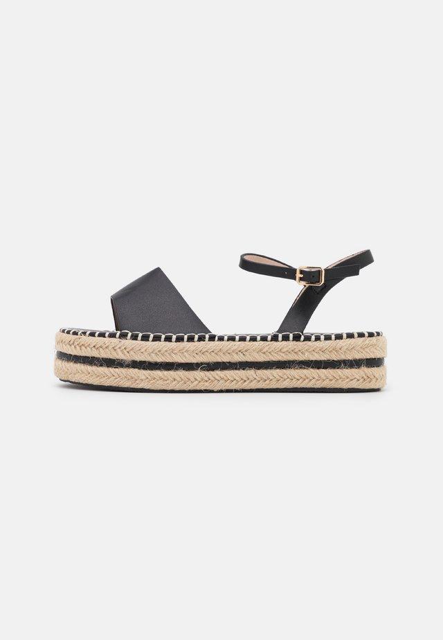 MONROE - Sandalen met plateauzool - black