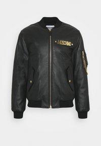 MOSCHINO - Leather jacket - black - 0