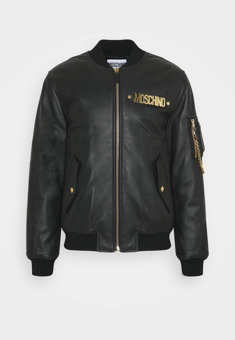 MOSCHINO - Leather jacket - black