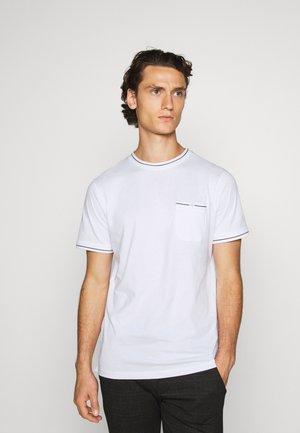 JPRBLACOLEN TEE CREW NECK - T-shirt basic - white
