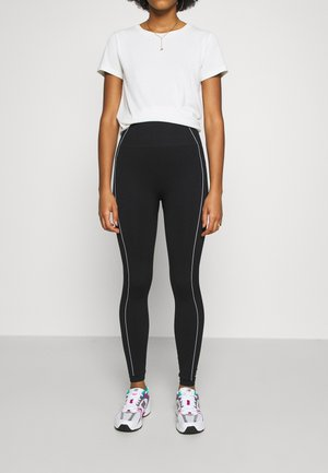 TONI DREHER X nu-in CONTRAST DETAIL SEAMLESS LEGGINGS - Leggings - Trousers - black/white