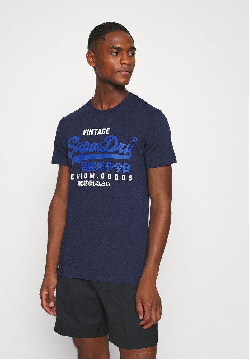 Superdry - TEE - Print T-shirt - midnight blue grit