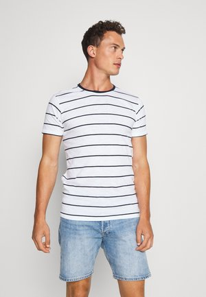 STRIPED SLUB TEE - T-shirt con stampa - white