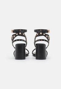 Miss Selfridge - SHANNON STUD BLOCK HEEL - Sandals - black - 3