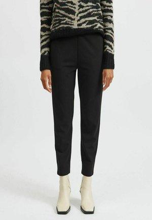 HIGH WAIST STRAIGHT FIT - Pantalon classique - black