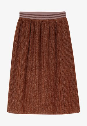 GONNA PLISSET - A-line skirt - brunito