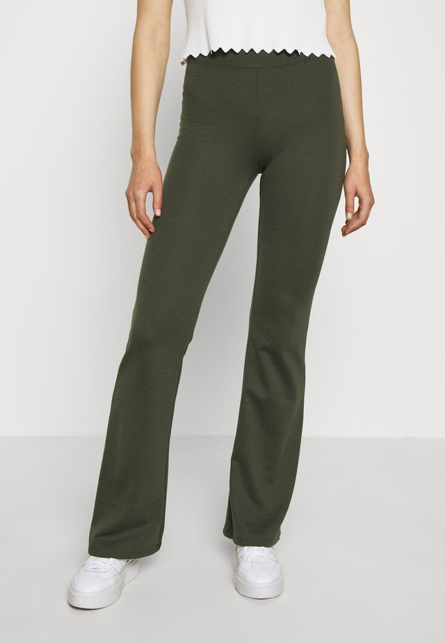ONLFEVER STRETCH FLAIRED PANTS - Bukse - forest night