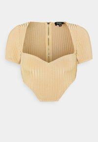 Missguided - NECKLINE CORSET - Print T-shirt - beige - 0