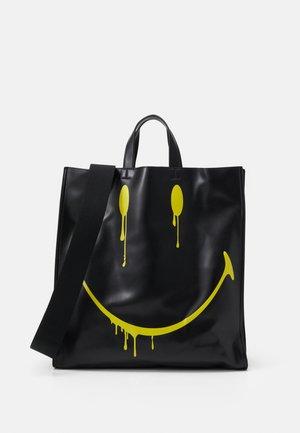 SMUDGE - Shopping bag - black/yellow