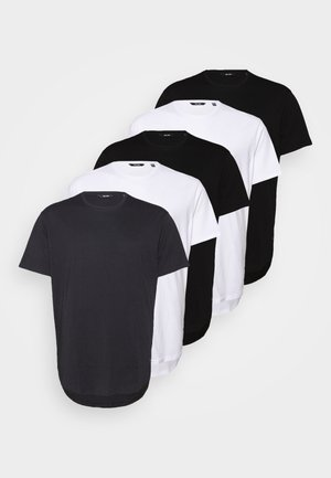 ONSMATT LONGY TEE  5 PACK  - Basic T-shirt - black/white/dark navy