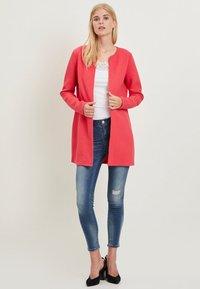 Vila - VINAJA NEW LONG JACKET - Summer jacket - red - 1