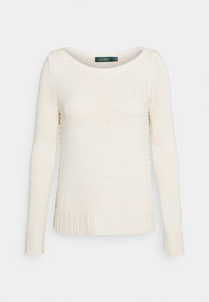 STELLAR BOAT NECK - Jumper - mascarpone cream